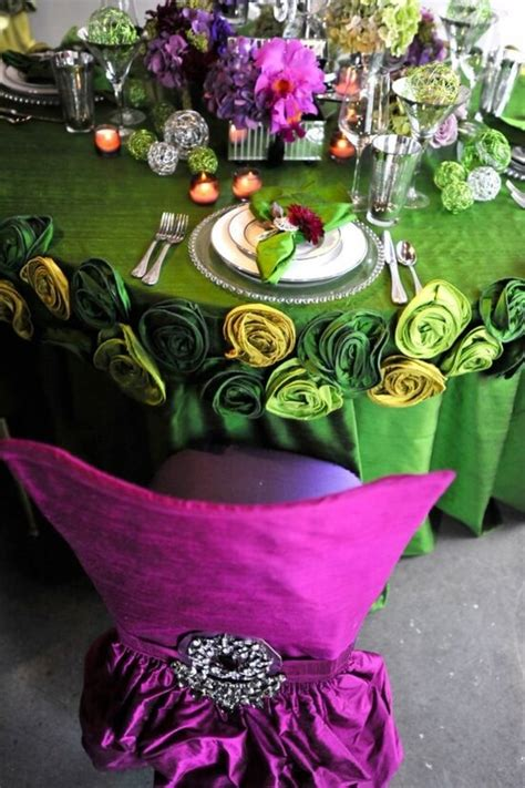 wedding table decorations purple and green purple and green tone wedding table decor