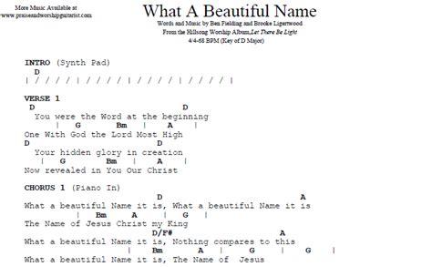what a beautiful name what a beautiful name d major original key praise