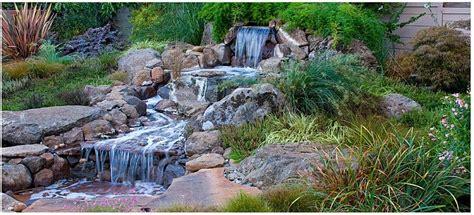 Waterfall Landscaping Ideas Nautral Waterfall Landscape From Shoreline Landscape Design In Santa Ca 95062