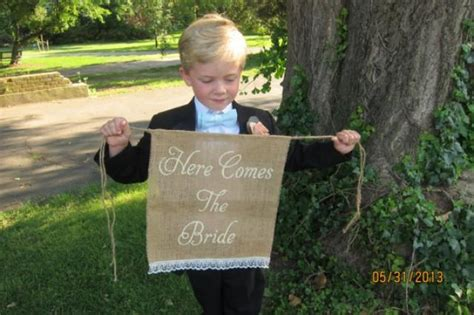 Burlap Wedding Banner Here Comes The by Here Comes The Burlap Lace Banner Burlap Wedding