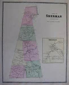 1867 school district map sherman fairfield county conn ebay