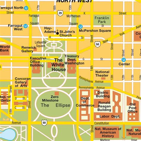 washington dc map of cities map washington dc city center district of columbia usa central downtown maps and directions
