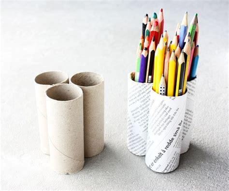 How To Make Sticks With Toilet Paper Rolls - how to recycle stunning pen pencil holder
