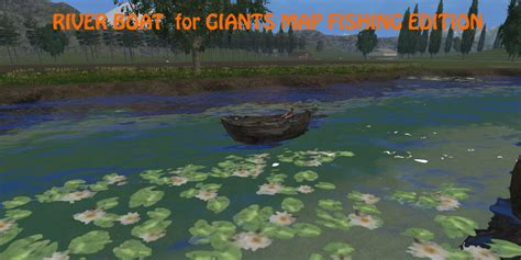 Ls With Fish by River Boat Fish V 1 0 Fs 2015 Farming Simulator 2017