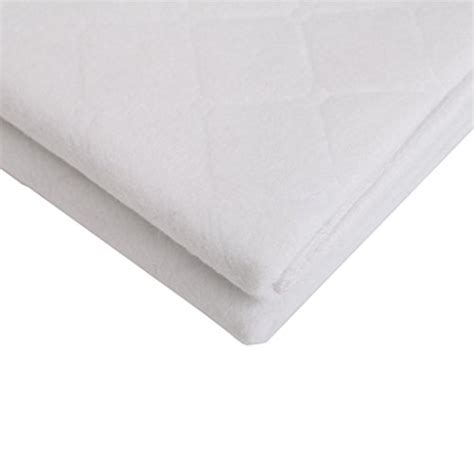 Waterproof Mattress Pad For Crib Clearance 2 Pack Baby Comfort Waterproof 3 Ply Mattress Pad Bassinet Pad White Crib Pad 18