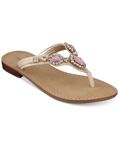 jeweled sandals ivanka palla jeweled sandals in pink lyst