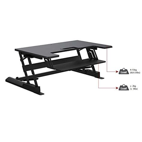 desk lift system apexdesk gx 36 quot height adjustable desk riser 2 tier gual gas lift system dual monitor