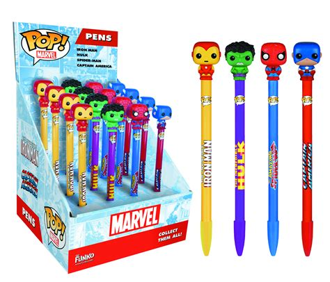 Funko Pop Pens Animation Pen Topper previewsworld pop marvel captain america pen topper c