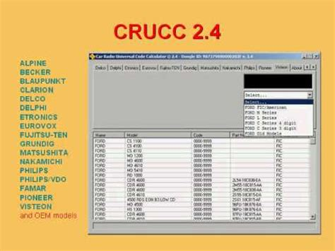 Hybridsirip Hiu Model Bmw Universal Terbaru crucc car radio universal code calculator delco harinya