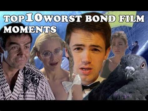 top 10 james bond movies youtube top 10 worst bond film moments youtube