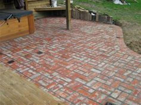 Basket Weave Brick Patio by Garden On Railway Sleepers Brick Patios And