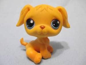 lps golden retriever littlest pet shop lps 21 golden retriever puppy purple