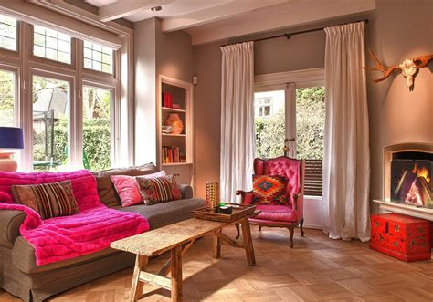 woonkamer roze woonkamer kleuren roze