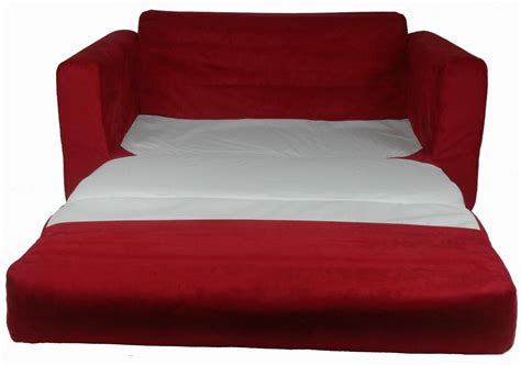 baby sofa couch fun furnishings sofa sleeper red micro suede baby