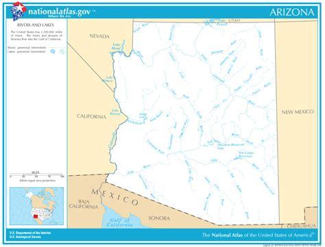 map of lakes in arizona map of arizona lakes