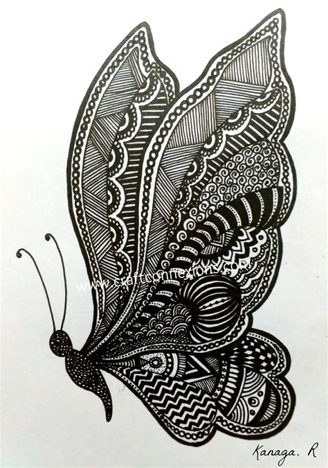 doodle pattern butterfly simple doodle butterfly doodle and zentangle art