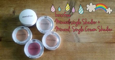 Mineral Single Shadow review innisfree mineral single shadow and mineral