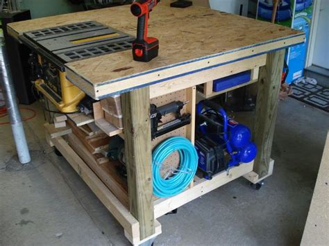 multi tool work table rolling work table woodworking plans