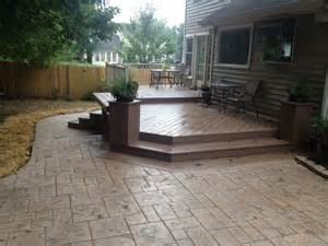 deck patio combination this deck and patio combination in greensboro nc proves