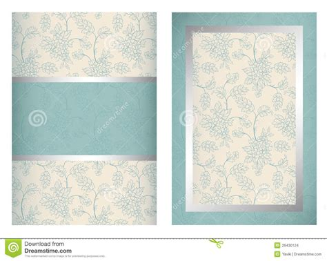 Invitation Card Template Vertical Stock Vector Image 26430124 Templates For Cards Free