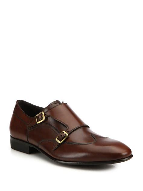 Azcost Wingtip ferragamo merida monk leather wingtip shoes