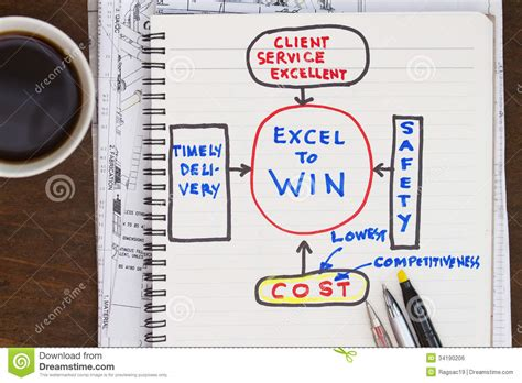 excel to win royalty free stock image image 34190206