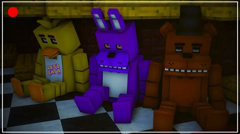 minecraft freddys nights at five five nights at freddy s animated minecraft animation
