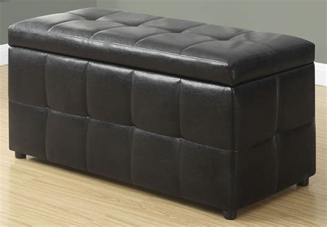 dark brown storage ottoman dark brown leather storage ottoman from monarch coleman