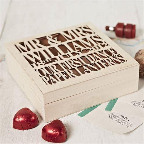 Wedding Album Keepsake Box by Personalised Wooden Wedding Keepsake Box By