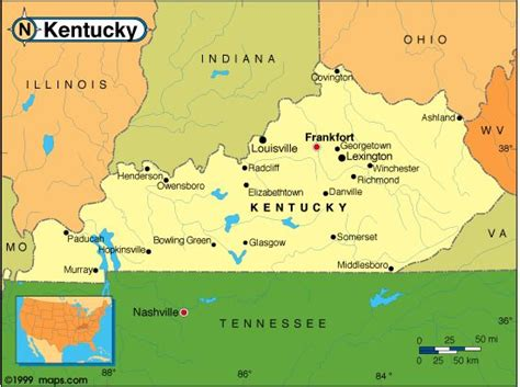 kentucky border map as you can see the highest elevations in the state are