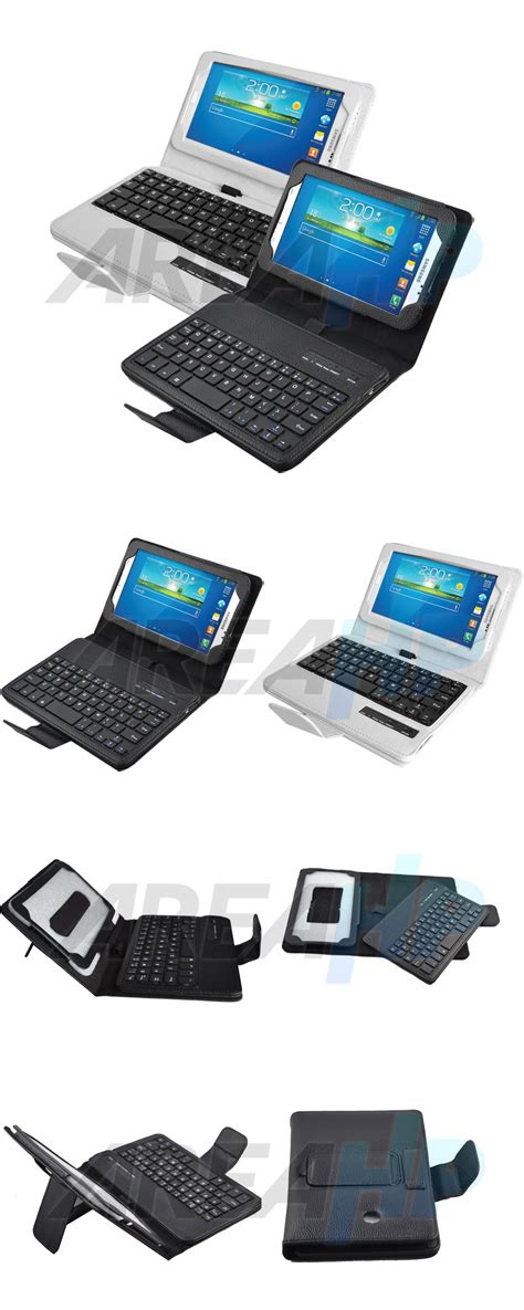 Leather Samsung Tab3 P3200 areahp removable keyboard leather for samsung