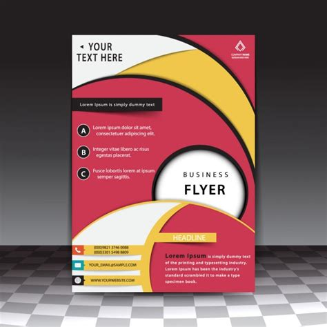 free professional flyer templates professional business flyer template vector free