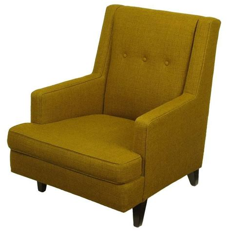 Dunbar Upholstery by Edward Wormley Lounge Chair In Moss Green Wool Upholstery