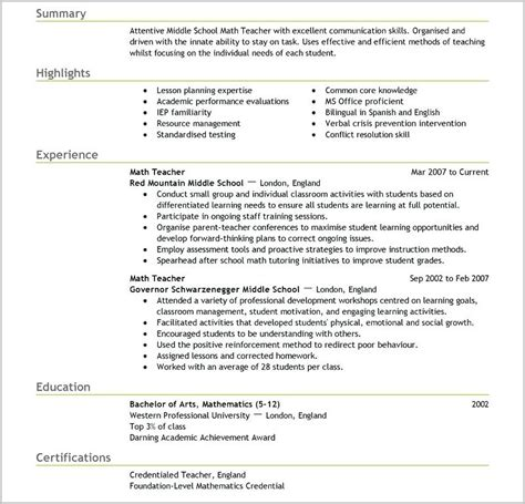 teaching assistant cv template word resume template for mac resume resume exles alz44q9zmg