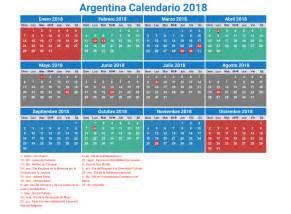 Calendario 2018 Para Imprimir Argentina Calendario 2018 Argentina Con Feriados Para Imprimir