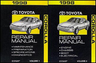 what is the best auto repair manual 1998 gmc 1500 club coupe navigation system 1998 toyota corolla repair shop manual set original