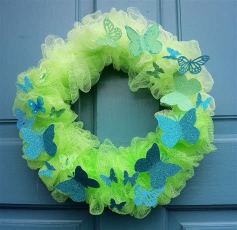 how to make a spring wreath make the best of things spring wreath from a bath scrubbie