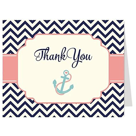 nautical theme friendship personalized nautical thank you cards also