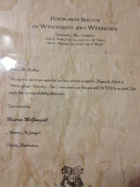 Rejection Letter From Hogwarts rejection on pholder 365 rejection images that made the
