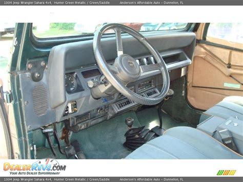 1994 Jeep Interior Green Saddle Interior 1994 Jeep Wrangler 4x4