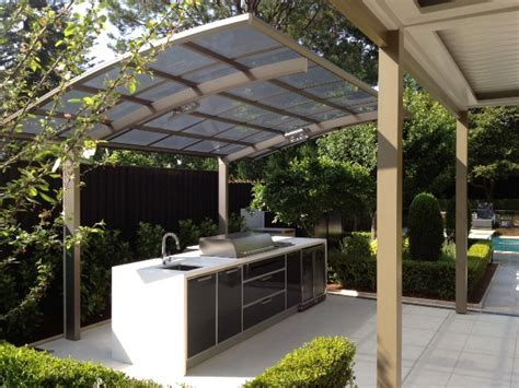bbq awning a cantaport shade structure used to protect an outdoor bbq