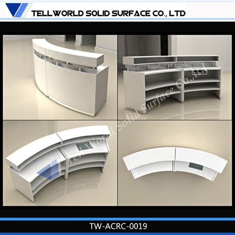 commercial reception desks modern salon reception desk oval modern commercial