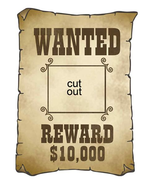 wanted sign template cowboy cutouts martha stewart