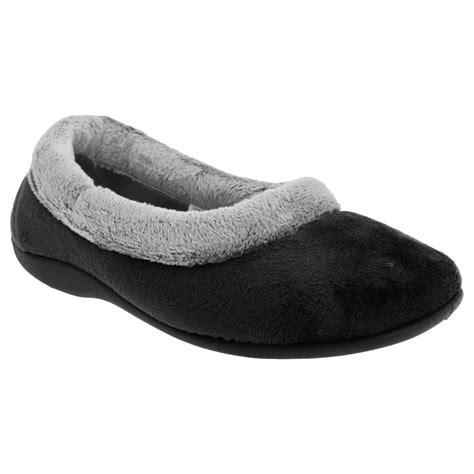 slippers with memory foam sleepers womens memory foam collar slippers