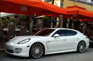 Porsche Panamera Custom White Porsche Panamera With Custom Rims