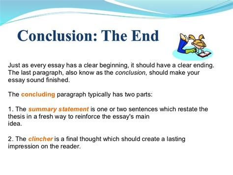 Concluding Paragraph Essay by Essay Writing Power Point 1