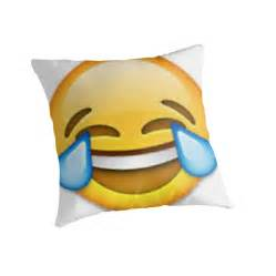 Laughing emoji quot throw pillows by janetgonzalez redbubble