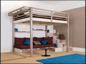 Space Saving Beds For Adults Bedroom Varnished Maple Loft Bed Which Paired With Black