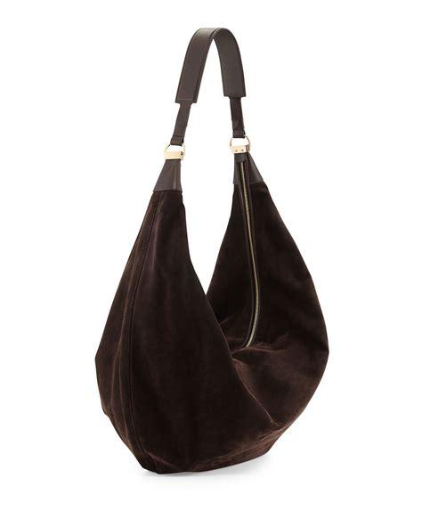 Castro Suede Sling Bag the row sling 15 suede hobo bag in brown brown lyst