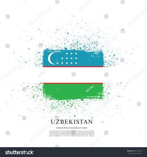 flag of uzbekistan stock image image of symbol places flag uzbekistan brush stroke background stock vector